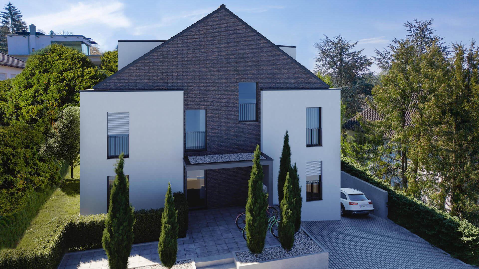 3D Rendering eines Hauses